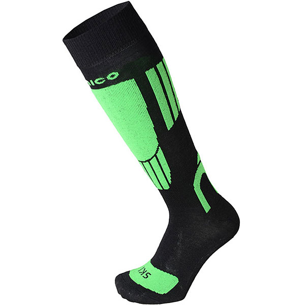 Носки высокие детские Mico Ski Socks In Merino Wool Verde Fluo носки высокие mico official ski socks white grey