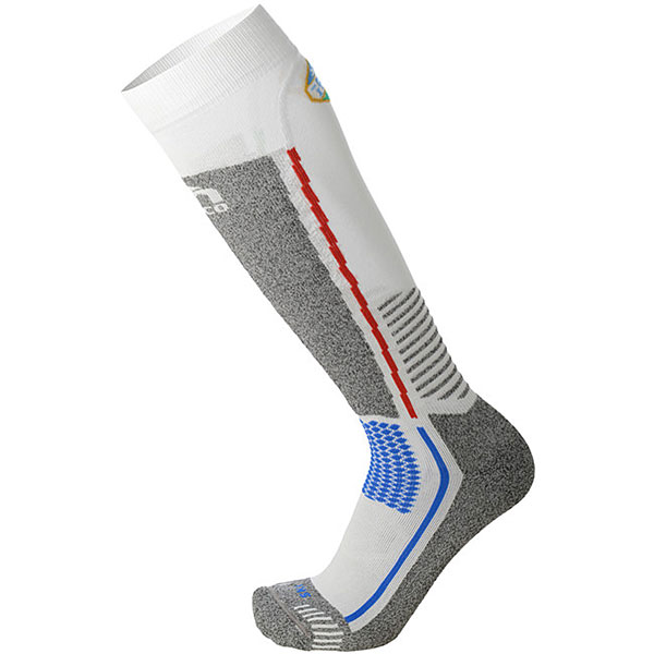Носки высокие Mico Official Ski Socks White/Grey носки высокие mico official ski socks white grey