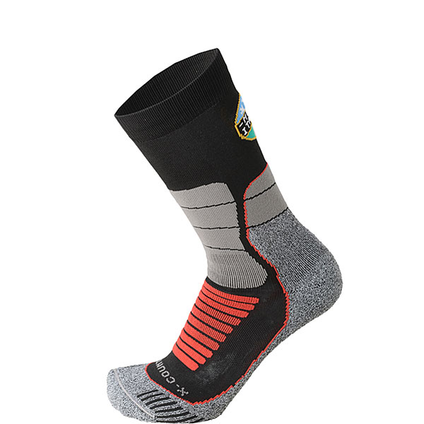 Носки высокие Mico Official Ita X-country Socks Black/Grey носки высокие mico official ski socks white grey