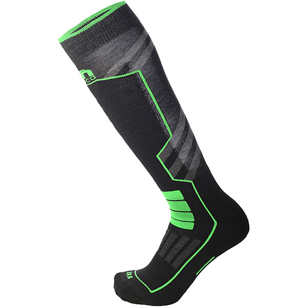 Носки высокие Mico Ski Performance Sock In Polypropylene Verde Fluo носки высокие mico official ski socks white grey