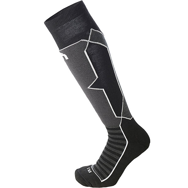 Носки высокие Mico Ski Performance Sock In Polypropylene+Wool Black носки высокие mico official ski socks white grey