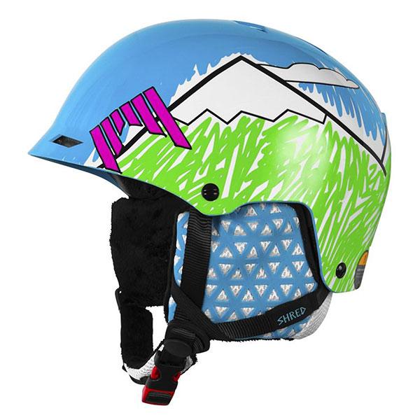 Шлем для сноуборда Shred Half Brain D-lux Needmoresnow Navy Blue/GreenЭтот яркий и супер надежный шлем подойдет любому: будь то любитель слалома, фрирайда или фристайла. Шлем имеет прочную конструкцию с использованием пластика ABS и активной системы защиты SLYTECH NOSHOCK. Технологические вставки в форме сот из твердеющего нано материала SLYTECH 2nd SKIN XT встроены в конструкцию шлема - эта система технично рассеивает энергию удара по всей пластиковой конструкции и обеспечивает мощную защиту при ударах на больших скоростях. Есть гнезда для крепления чингарды, а также возможность полностью снять подкладку и уши, превратив шлем в легкий котелок. Шлем имеет грамотную 3-х уровневую вентиляцию: при этом вентиляция козырька не позволяет запотевать маске. Эксклюзивный дизайн этой модели заметен среди сотен других. Выбор основателя компании Shred - Тэда Лигети. Характеристики:SLYTECH 2nd SKIN технология.Усиленная конструкция hardshell ABS. Съемная подкладка из гигеничного X-Static.Подготовлен для аудио. Колесо быстрой микро регулировки размера на затылке.Макро регулировка размера за счет настройки пластикового паука, на котором держится колесо микрорегулировки и вся подкладка шлема: Perfect Fit Finder. Вентиляция с возможностью выключения. Технология ICEdot. Возможность крепления чингарды (Half Chinguard). Сертификаты EN 1077 B, ASTM F2040.<br><br>Цвет: мультиколор<br>Тип: Шлем для сноуборда<br>Возраст: Взрослый<br>Пол: Мужской