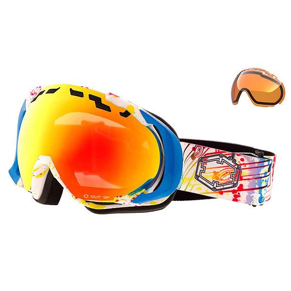 Маска для сноуборда OUT OF Edge Audio Fire MciКрай масок серии Edge специально сделан так, чтобы идеально сочетаться со шлемом.Характеристики:Оснащена специальными боковыми опорами, предотвращая любые возможные смещения маски. Система вентиляции по бокам, не допуская входа наружного воздуха, но сохраняя теплый воздух внутри. Гипоаллергенное тройное покрытие плотным слоем пены. Защитное покрытие от царапин. Поле зрения: 183 ° по горизонтали. Наполнитель: гипоаллергенная пена тройной плотности.  Сферическая линза MCI из поликарбоната с зеркальным напылением, устойчивым к царапинам.Антитуманное и гидроотталкивающее покрытие. Совместимость со шлемом. Сменная линза в комплекте.<br><br>Цвет: мультиколор<br>Тип: Маска для сноуборда<br>Возраст: Взрослый<br>Пол: Мужской
