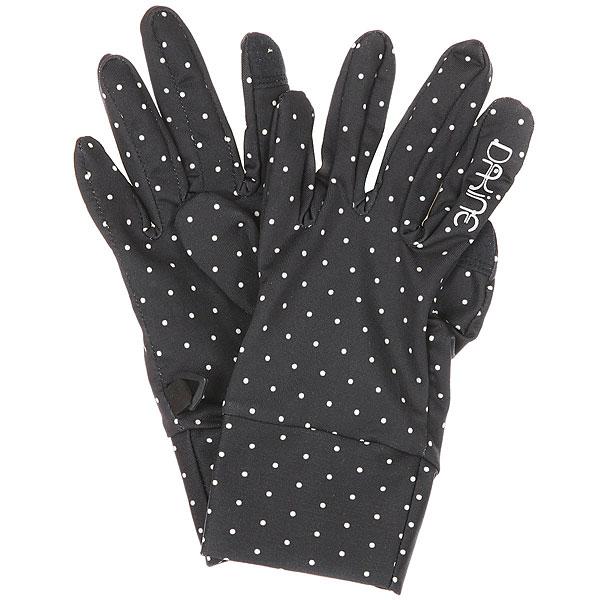 Перчатки женские Dakine Rambler DottyТонкие перчатки DAKINE RAMBLER идеально подойдут для прохладных дней илииспользования в качестве внутренника к зимним перчаткам или варежкам. Тянущийся и впитывающий влагу полиэстер, возможность управления сенсорным экраном Вашего смартфона - разве нужно что-то еще? Характеристики:Тянущийся, впитывающий влагу материал. Возможность управления сенсорным экраном.<br><br>Цвет: черный<br>Тип: Перчатки<br>Возраст: Взрослый<br>Пол: Женский