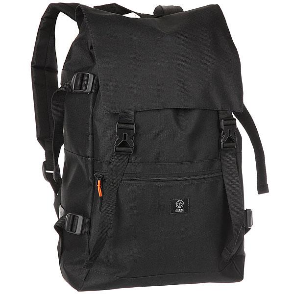 Рюкзак Extra B-317 BlackПрактичный рюкзак для активного отдыха и путешествий.Технические характеристики: Одно основное отделение с клапаном на пряжках.Внешний карман на молнии.Карман для ноутбука до 15.Компрессионные ремни.Мягкие плечевые ремни с регулировкой.<br><br>Цвет: черный<br>Тип: Рюкзак<br>Возраст: Взрослый