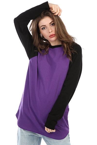 Лонгслив женский Anteater Long053 Purple/Black<br><br>Цвет: фиолетовый,черный<br>Тип: Лонгслив<br>Возраст: Взрослый<br>Пол: Женский