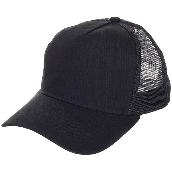 Бейсболка классическая TrueSpin Blank Round Visor Trucker Black