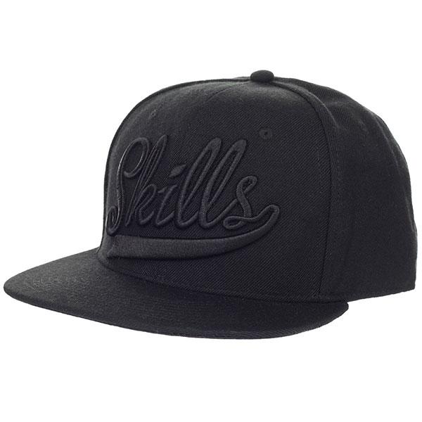 Бейсболка классическая Skills Skills-01 Black<br><br>Цвет: черный<br>Тип: Бейсболка классическая<br>Возраст: Взрослый