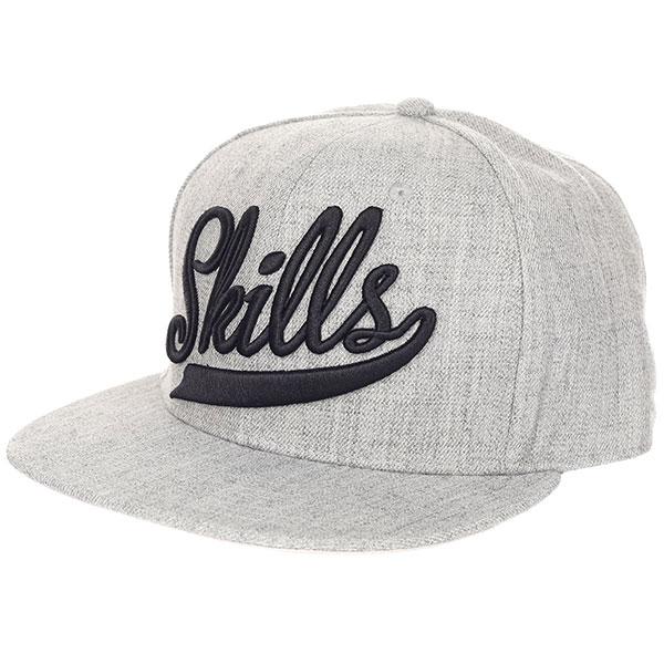 Бейсболка классическая Skills Skills-01 Grey Melange<br><br>Цвет: серый<br>Тип: Бейсболка классическая<br>Возраст: Взрослый<br>Пол: Мужской