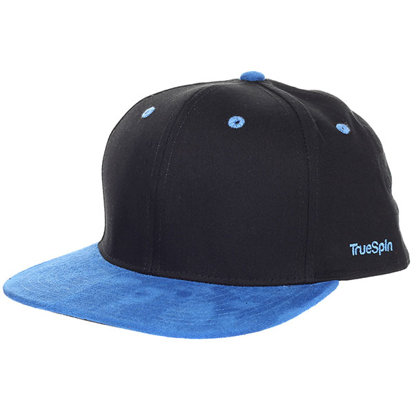 Бейсболка с прямым козырьком TrueSpin 2 Tone Blank Next Level Black/Blue кепки true spin кепка truespin everything