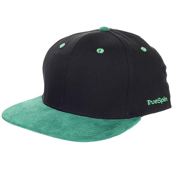 Бейсболка с прямым козырьком TrueSpin 2 Tone Blank Next Level Black/Green шапка truespin neon pom 2 tone black orange