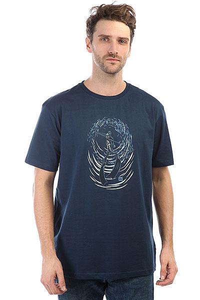 футболка детская quiksilver gravestone tees dark denim heather Футболка Quiksilver Freediver Dark Denim