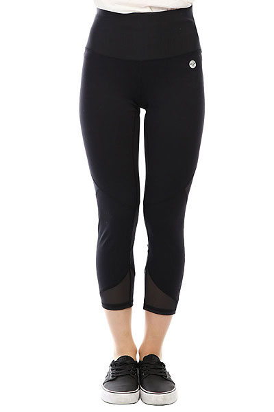 Штаны спортивные женские Roxy Lost Seaside Anthracite<br><br>Цвет: черный<br>Тип: Штаны спортивные