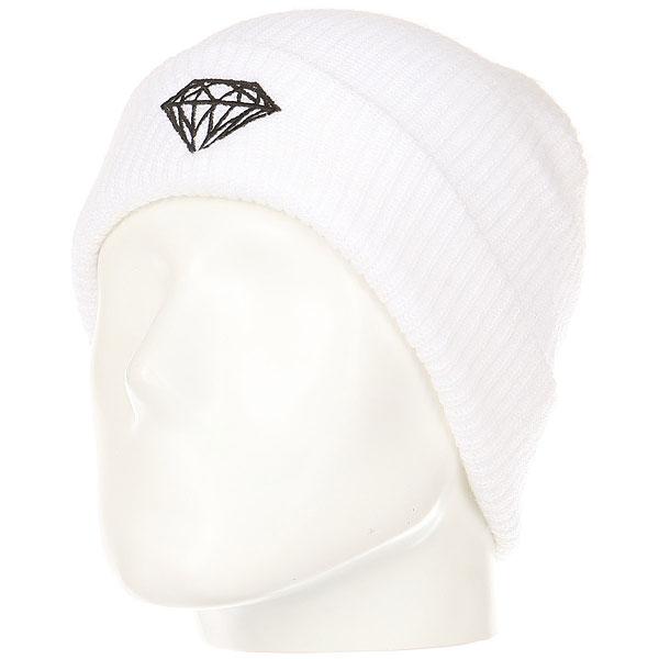 Шапка Diamond Brilliant Fold Beanie White<br><br>Цвет: белый<br>Тип: Шапка<br>Возраст: Взрослый<br>Пол: Мужской