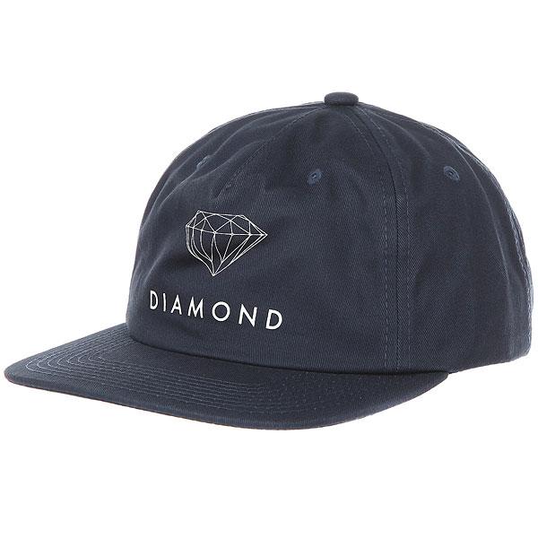 Бейсболка классическая Diamond Futura Sign Unconstructed Navy<br><br>Цвет: Темно-синий<br>Тип: Бейсболка классическая<br>Возраст: Взрослый<br>Пол: Мужской