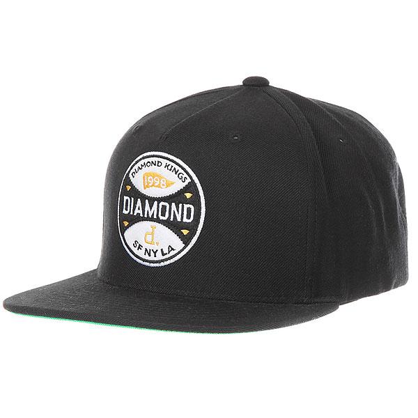 Бейсболка классическая Diamond Kings Snapback Black парка free flight vpz18 khaki black l