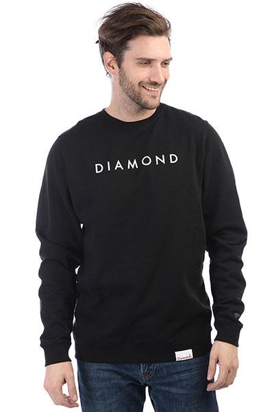 Толстовка классическая Diamond Futura Crewneck Black<br><br>Цвет: черный<br>Тип: Толстовка классическая<br>Возраст: Взрослый<br>Пол: Мужской