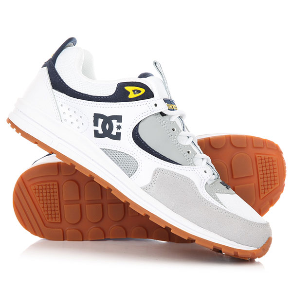 Кроссовки DC Kalis Lite White/Grey/Yellow кроссовки salomon кроссовки shoes xa lite bk quiet shad imperial b