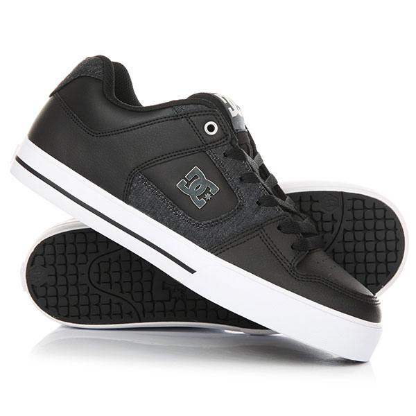 Кеды кроссовки низкие DC Pure Se Black/Grey dc shoes кеды dc council se navy camel 8