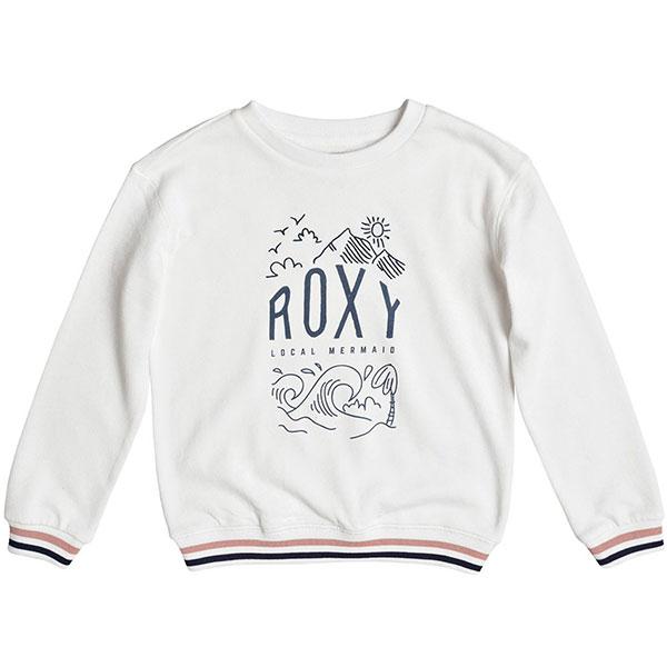 Толстовка классическая Roxy Shinealldaynigh Marshmallow<br><br>Цвет: белый<br>Тип: Толстовка классическая<br>Возраст: Детский