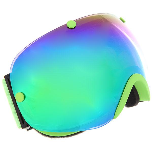 Маска для сноуборда Vizzo Spherix Green Mirror маска для сноуборда dragon mdx nerve green ionized clear aft