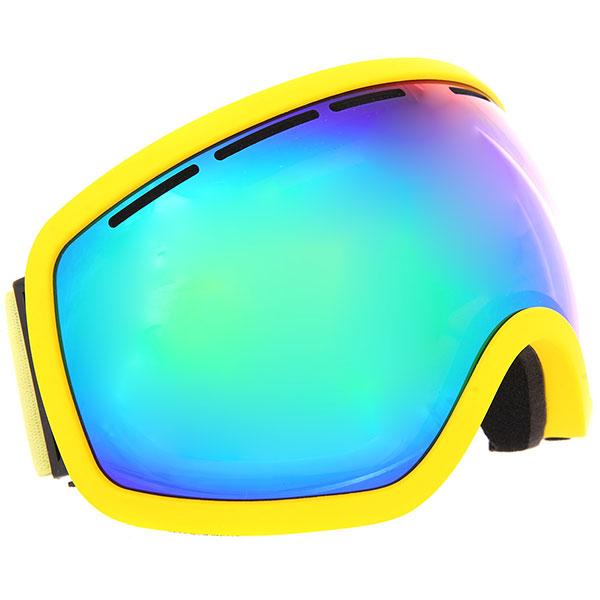 Маска для сноуборда Vizzo Vizzo Phantom Green Mirror/Yellow маска для сноуборда dragon mdx nerve green ionized clear aft