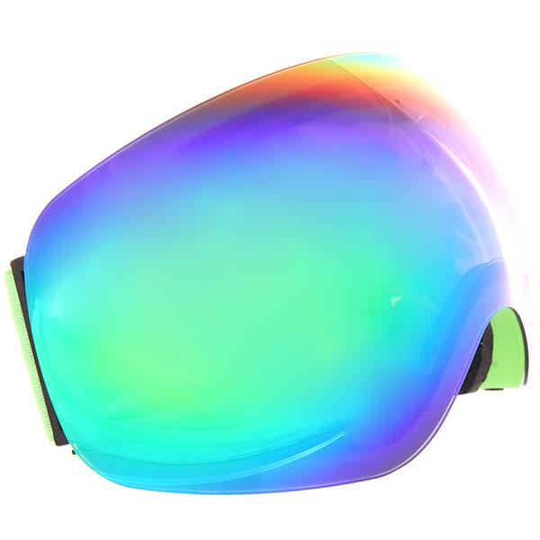 Маска для сноуборда Vizzo Flame Green Mirror/Green маска для сноуборда dragon mdx nerve green ionized clear aft