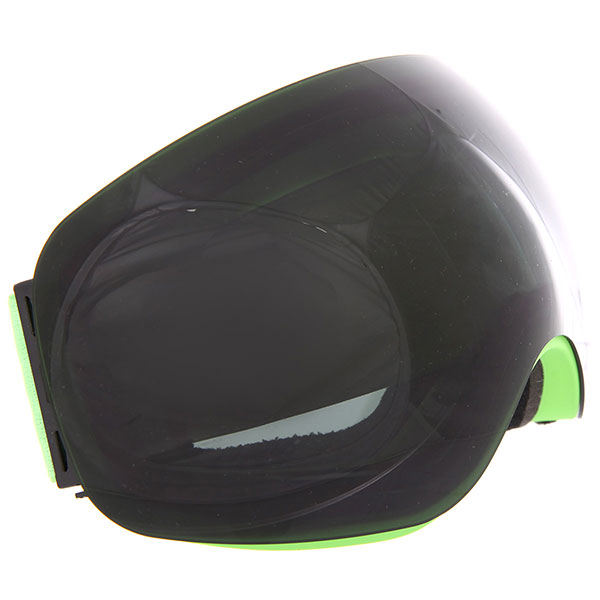Маска для сноуборда Vizzo Flame Dark Smoke Mirror/Green<br><br>Цвет: черный,зеленый<br>Тип: Маска для сноуборда<br>Возраст: Взрослый<br>Пол: Мужской