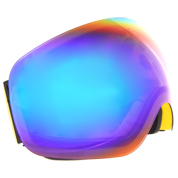 Маска для сноуборда Vizzo Flame Green Mirror/Yellow маска для сноуборда dragon mdx nerve green ionized clear aft