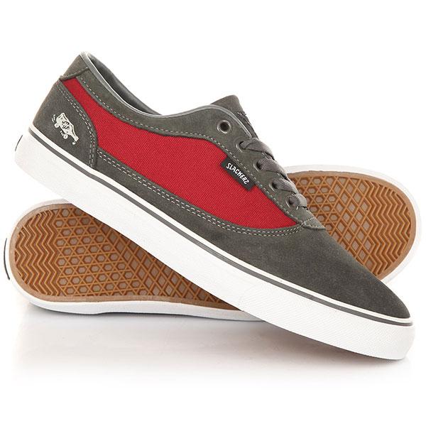 Кеды кроссовки Slackers Rebel Grey/Burgundy<br><br>Цвет: серый,красный<br>Тип: Кеды<br>Возраст: Взрослый<br>Пол: Мужской