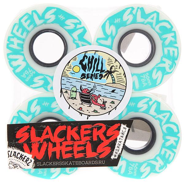 Колеса для скейтборда Slackers Chill Series raw 78A 56 mm колеса для скейтборда для лонгборда eastcoast shelby white 78a 65 mm
