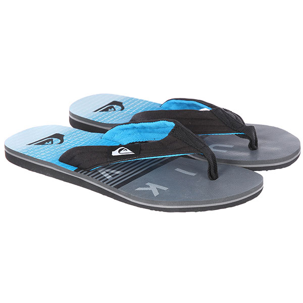 Вьетнамки Quiksilver Molokai Layback Black/Grey/Blue вьетнамки quiksilver molokai layback black red green