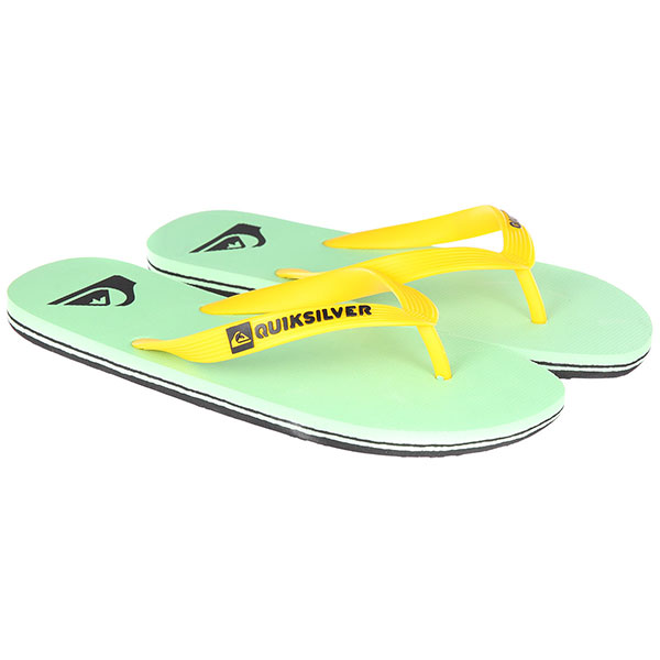 Вьетнамки Quiksilver Molokai Black/Green/White вьетнамки quiksilver molokai layback black red green