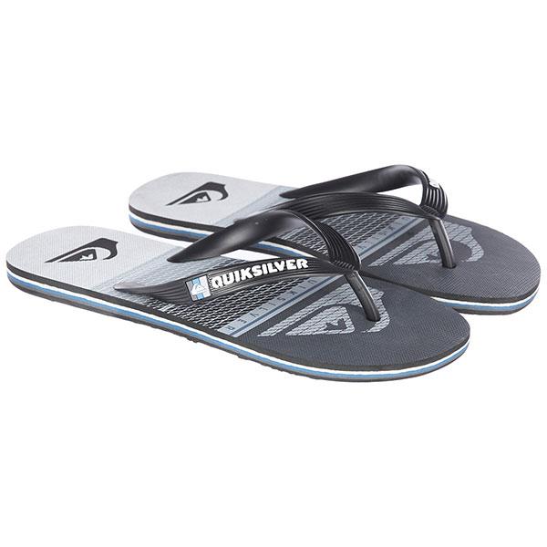 Вьетнамки Quiksilver Molohighlinslab Black/Grey/White кеды кроссовки низкие quiksilver shorebreak delu grey black white
