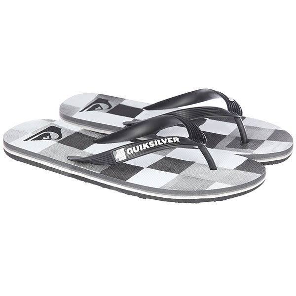 Вьетнамки Quiksilver Molokairesinchk Black/White/Grey кеды кроссовки низкие quiksilver shorebreak delu grey black white