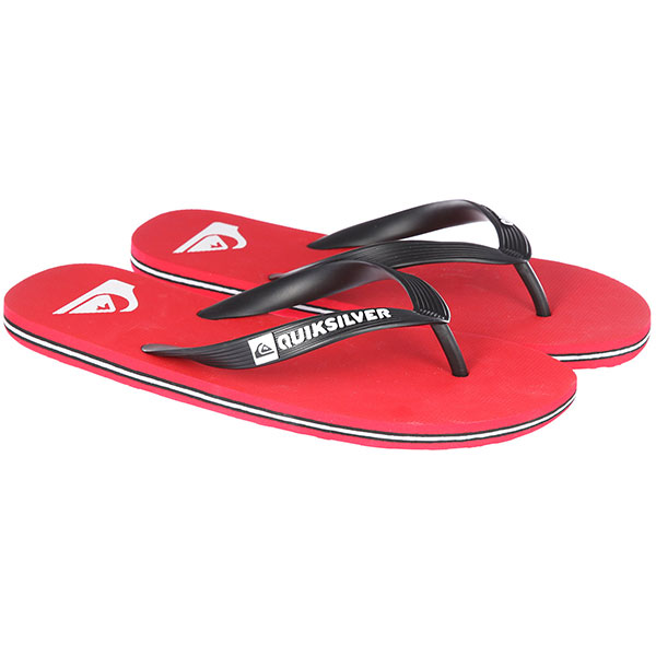 Вьетнамки Quiksilver Molokai Black/Red/White вьетнамки quiksilver molokai layback black red green