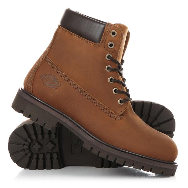 Ботинки высокие Dickies South Dakota Dark BrownТрадиционные мужские ботинки с водонепроницаемым верхом из нубука.Технические характеристики: Водонепроницаемая мембрана.Подкладка Cambrelle обладающая высокими гигроскопическими свойствами.Мягкий воротник и язычок.Стелька ПУ.Резиновая подошва с глубоким протектором.<br><br>Цвет: коричневый<br>Тип: Ботинки высокие<br>Возраст: Взрослый<br>Пол: Мужской
