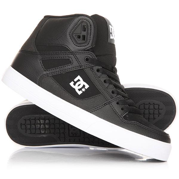 Кеды кроссовки высокие DC Pure Shoe Black/White кеды кроссовки высокие dc council mid tx stone camo