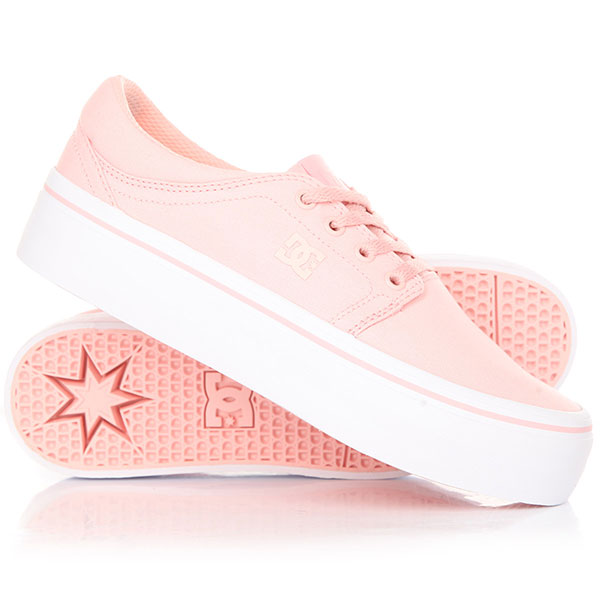 Кеды кроссовки женские DC Trase Platform Shoe Rose dc shoes кеды dc heathrow se 11