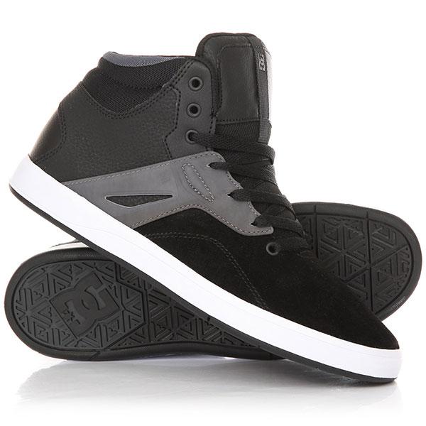 Высокие Кеды кроссовки DC Frequency Hi Shoe Black/White кеды кроссовки высокие dc council mid black armor white