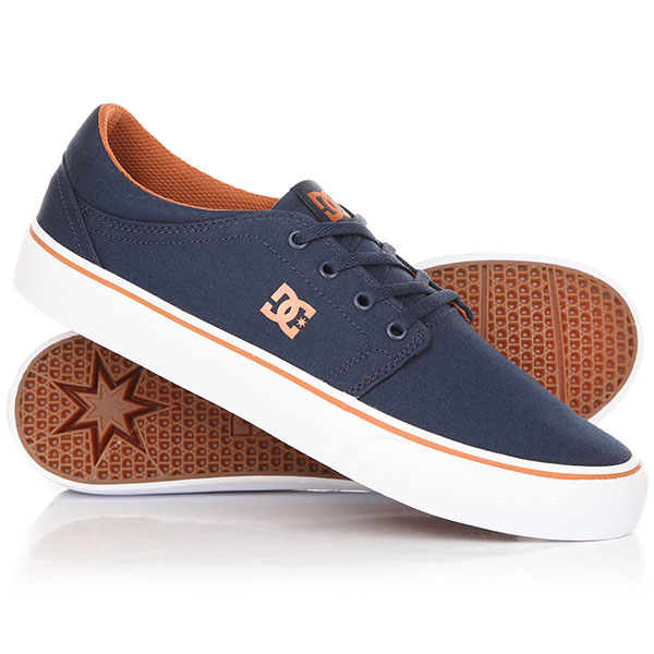 Кеды кроссовки DC Trase M Shoe Navy/Camel dc shoes кеды dc heathrow se 11