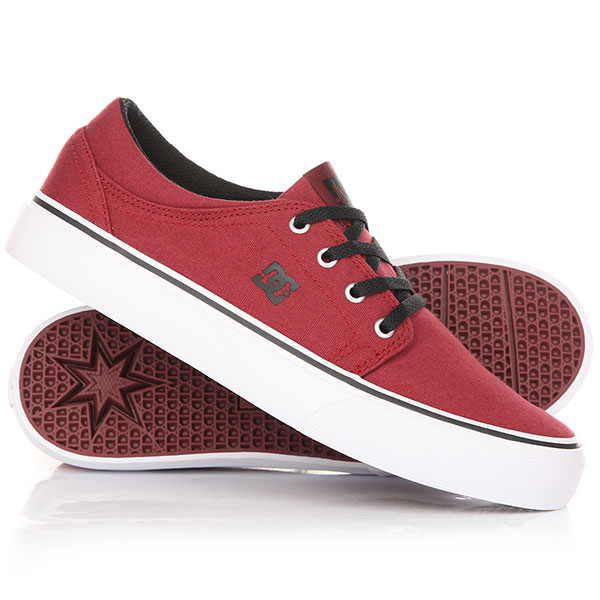 Кеды кроссовки детские DC Trase TX B Shoe Dark Red dc men s council mid tx skate shoe