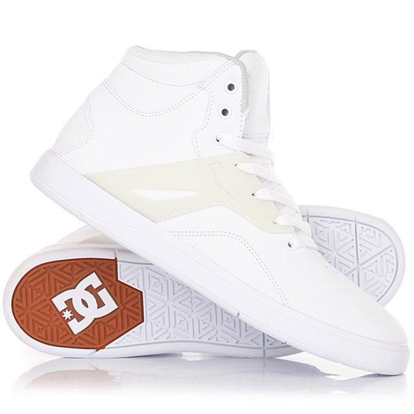 Кеды кроссовки высокие DC Frequency Hi White кеды кроссовки высокие dc council mid tx stone camo