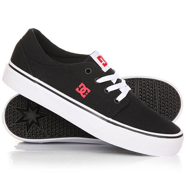 Кеды кроссовки низкие детские DC Trase Tx Black/Red/White кеды кроссовки высокие dc council mid tx stone camo