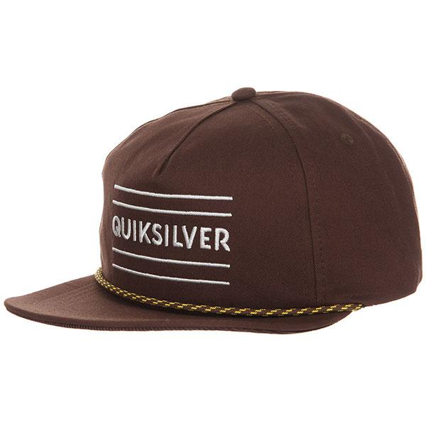 Бейсболка с прямым козырьком Quiksilver Fold Snapper Chocolate Brown<br><br>Цвет: коричневый<br>Тип: Бейсболка с прямым козырьком<br>Возраст: Взрослый