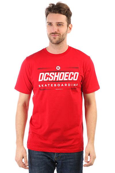 Футболка DC Four Base Tango Red<br><br>Цвет: красный<br>Тип: Футболка<br>Возраст: Взрослый<br>Пол: Мужской