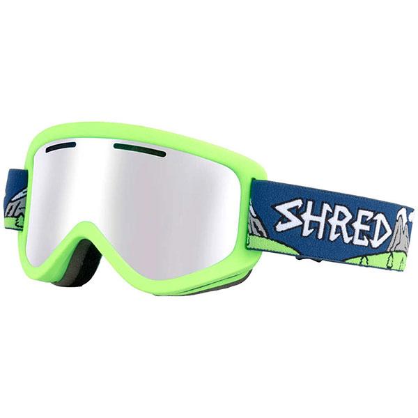 Маска для сноуборда Shred Wonderfy Needmoresnow Cbl/Plasma (nodistortion) Neon Green<br><br>Цвет: Светло-зеленый<br>Тип: Маска для сноуборда<br>Возраст: Взрослый<br>Пол: Мужской