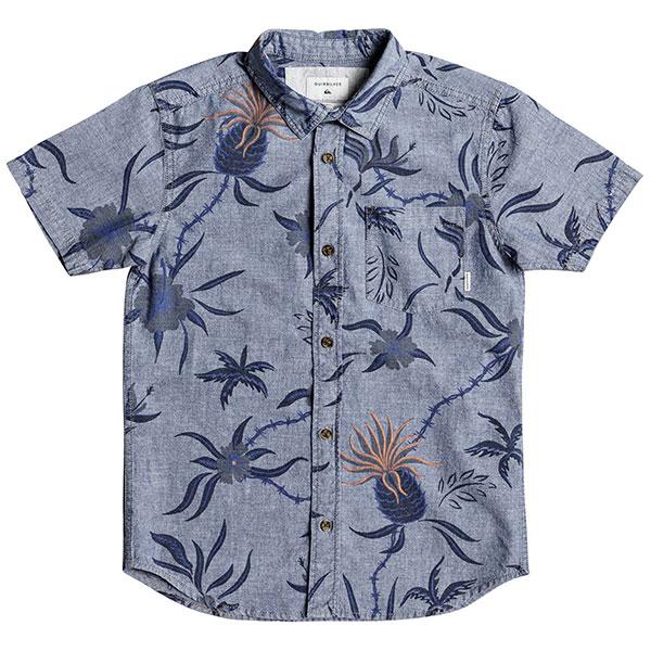 Рубашка детская Quiksilver Shakkamateyth Blue Used Shakka Mat<br><br>Цвет: голубой<br>Тип: Рубашка<br>Возраст: Детский