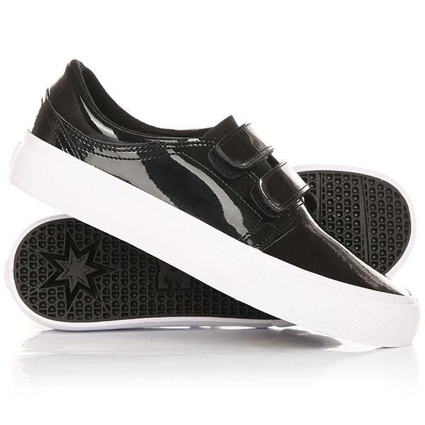 Кеды кроссовки низкие женские DC Trase V Se Black/White кроссовки женские dc heathrow se black white print