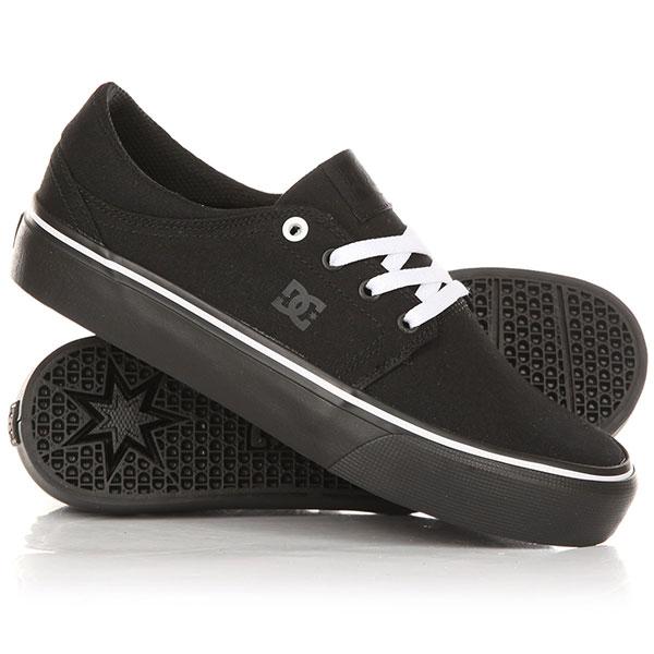 Кеды кроссовки низкие женские DC Trase Tx Black/White кеды кроссовки высокие dc council mid tx stone camo